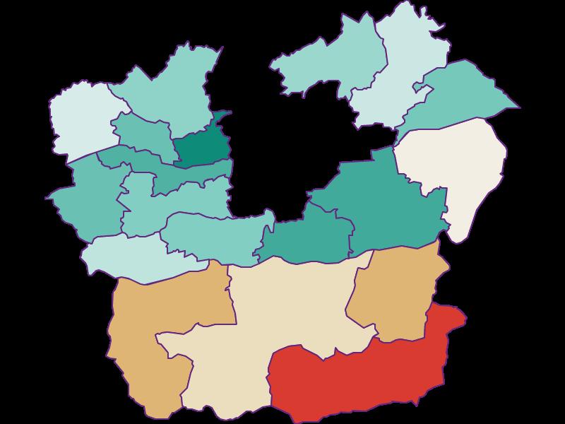 Демография с 1900 года в Klagenfurt Land
