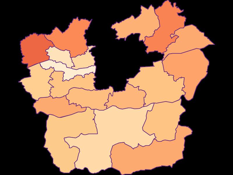 Размер домохозяйства в Klagenfurt Land