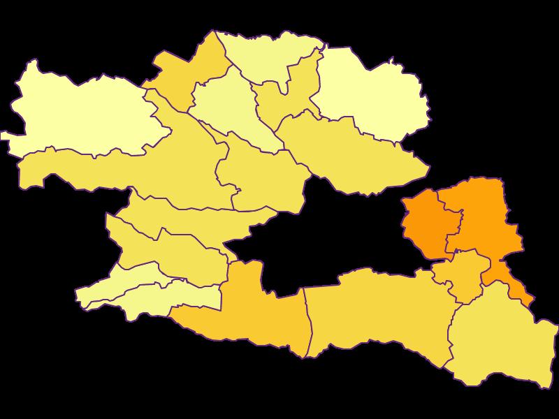 Population density in Villach Land