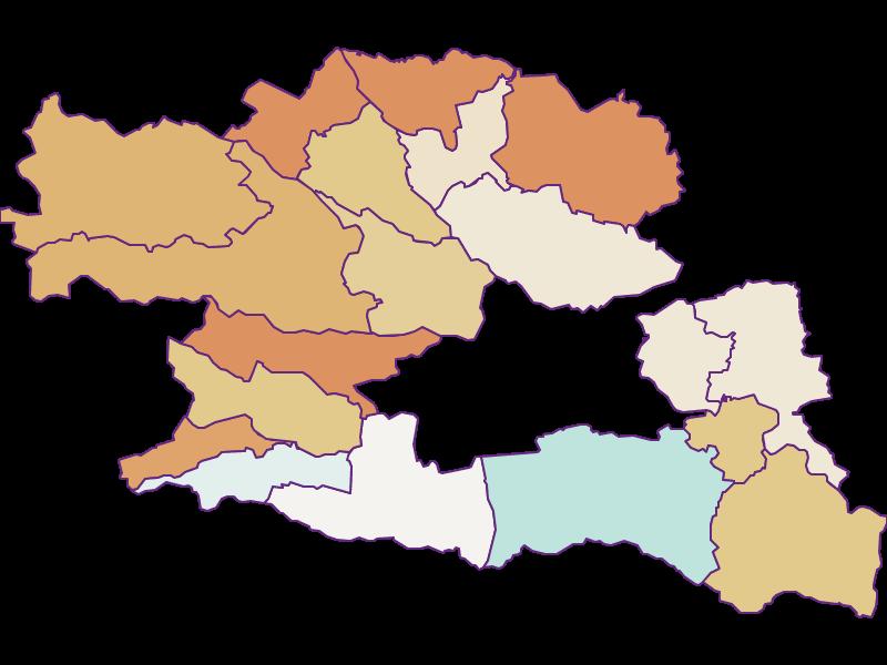 Population development since 2011 in Villach Land