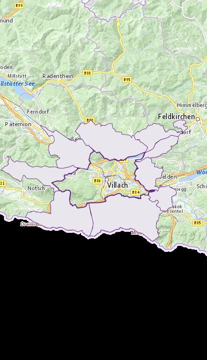 Villach - Kärnten - Geographie, Wirtschaftskunde, Statistik | Similio