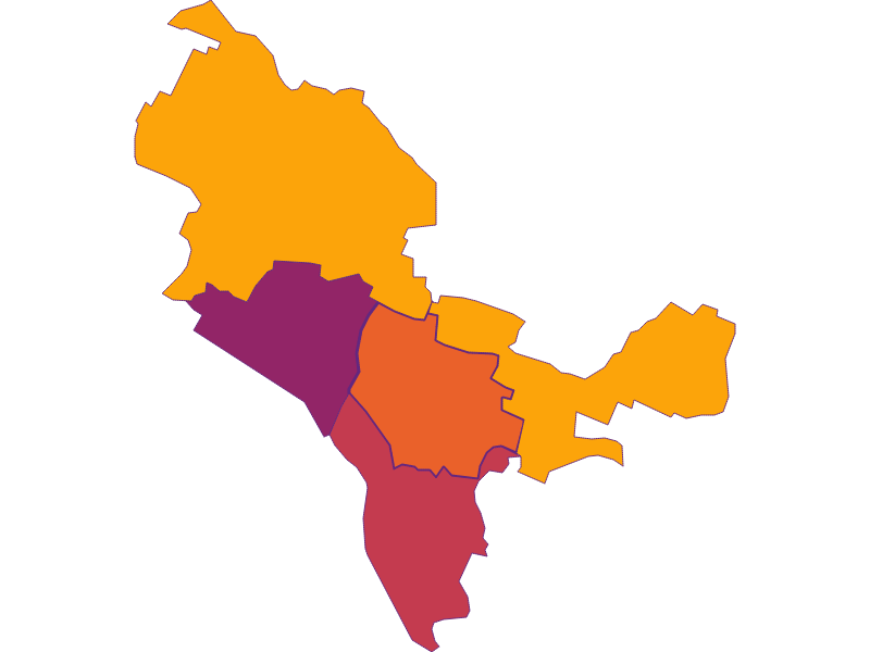 Плотность населения в Bisamberg