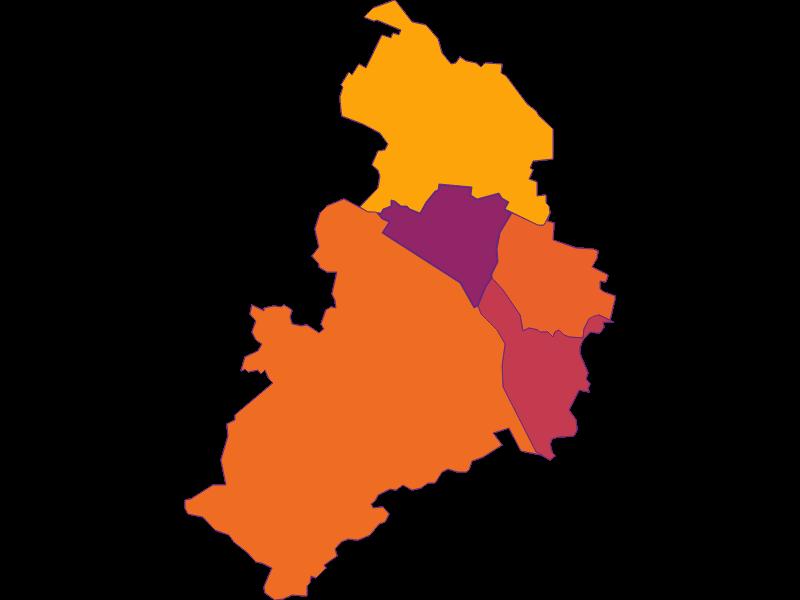 Плотность населения в Korneuburg