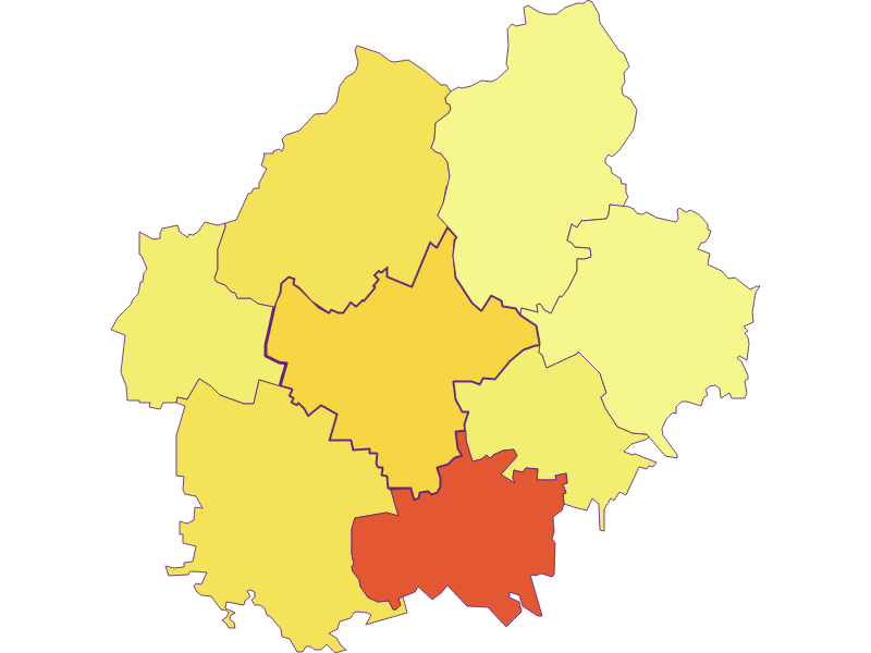 Population density in Sierndorf