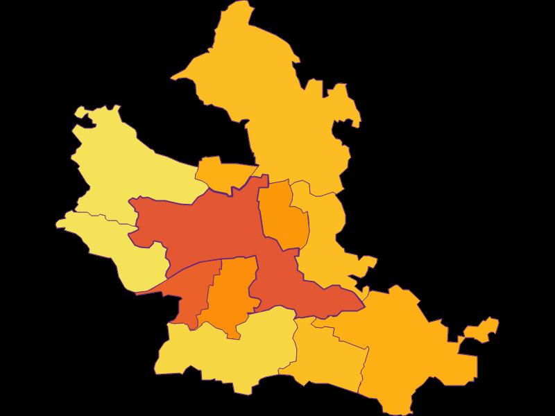 Population density in Krems an der Donau