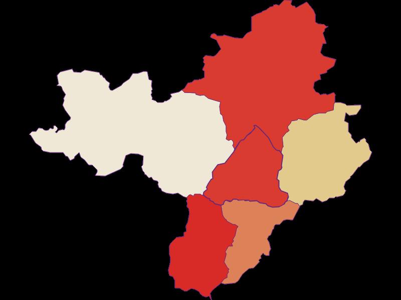Population development since 1869 in Radmer