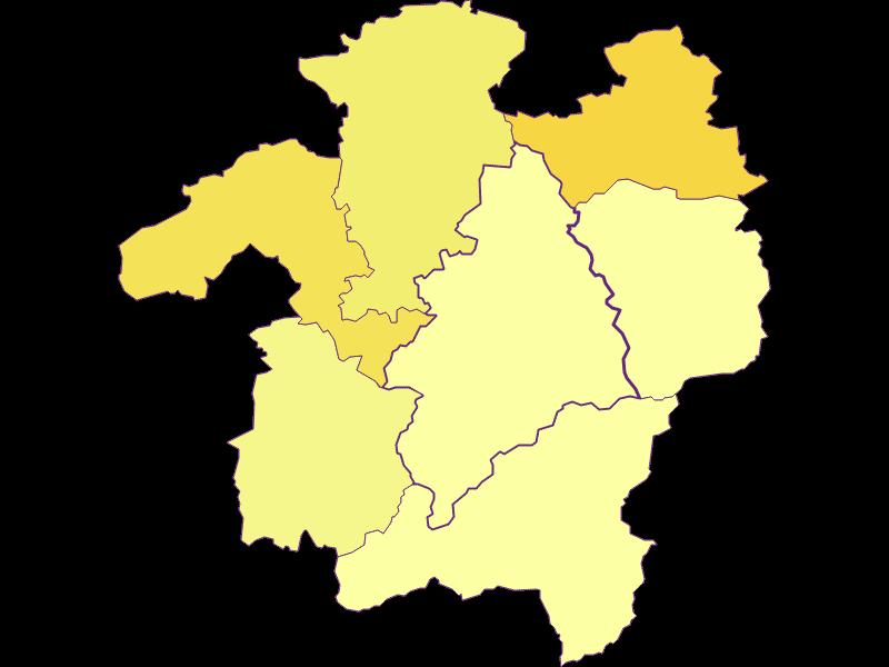 Плотность населения в Kleinzell
