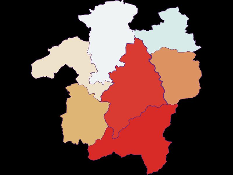 Population development since 1869 in Kleinzell
