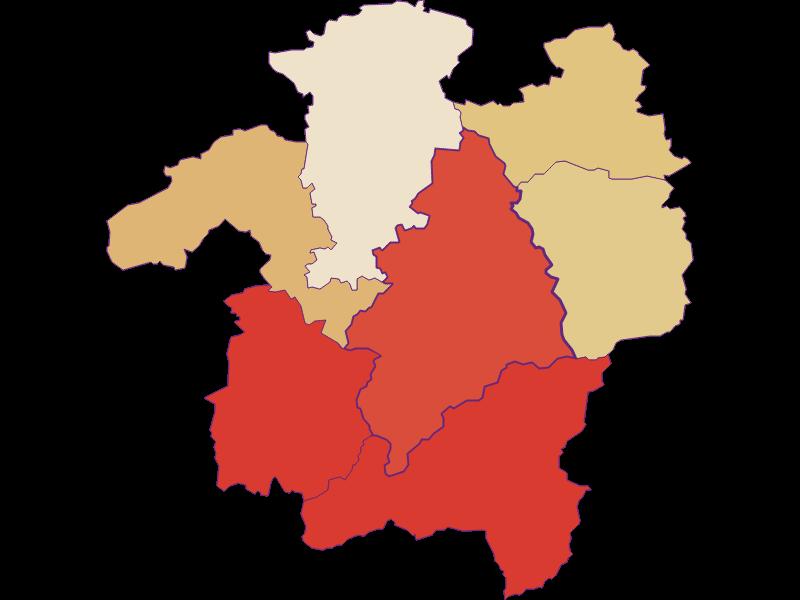 Population development since 1900 in Kleinzell