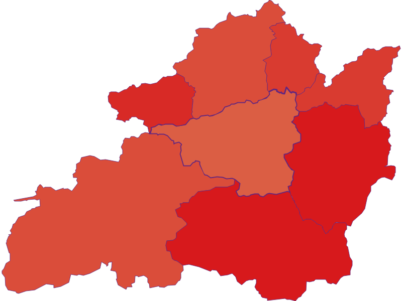 Population development since 1900 in St. Aegyd am Neuwalde