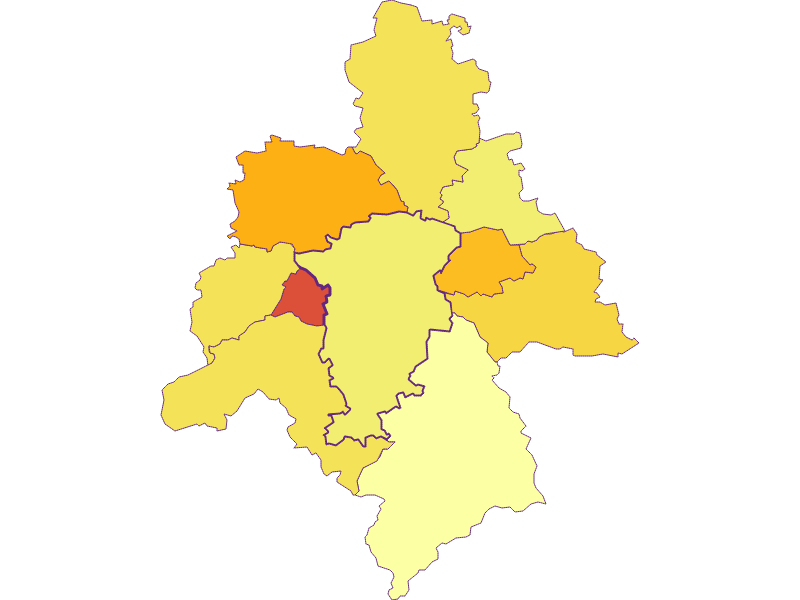Плотность населения в St. Veit an der Gölsen