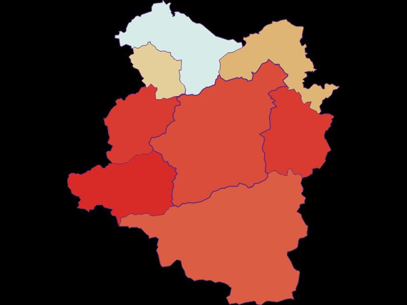 Population development since 1900 in Türnitz