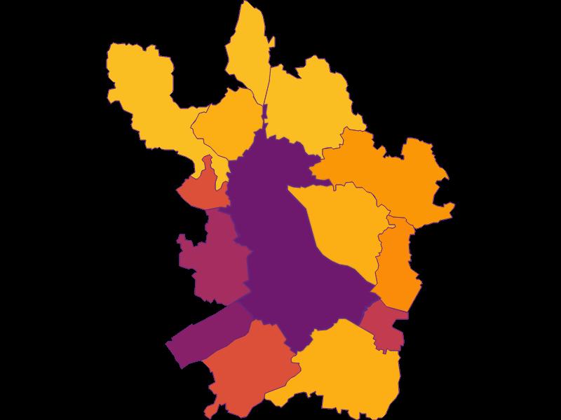 Плотность населения в Linz