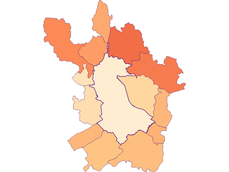 Размер домохозяйства в Linz