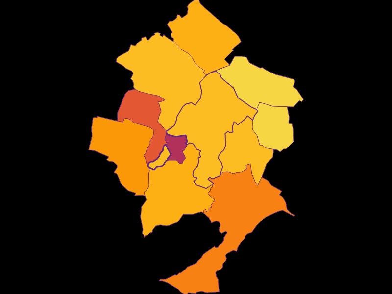Плотность населения в Pöttsching