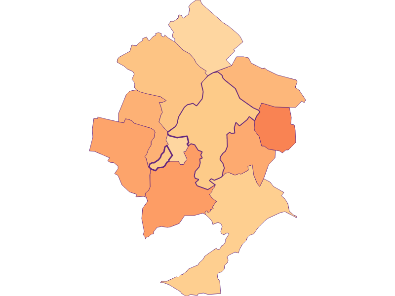 Размер домохозяйства в Pöttsching