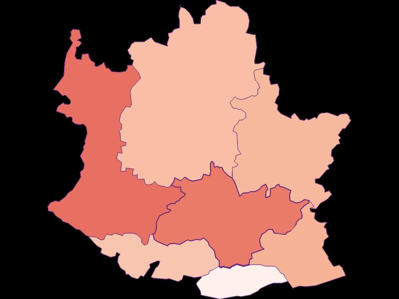 Activity rate in Artstetten-Pöbring