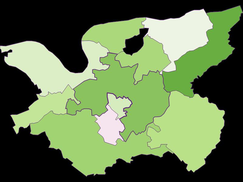 Заселенность в Bergland