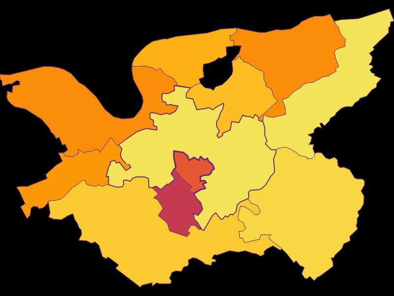 Плотность населения в Bergland
