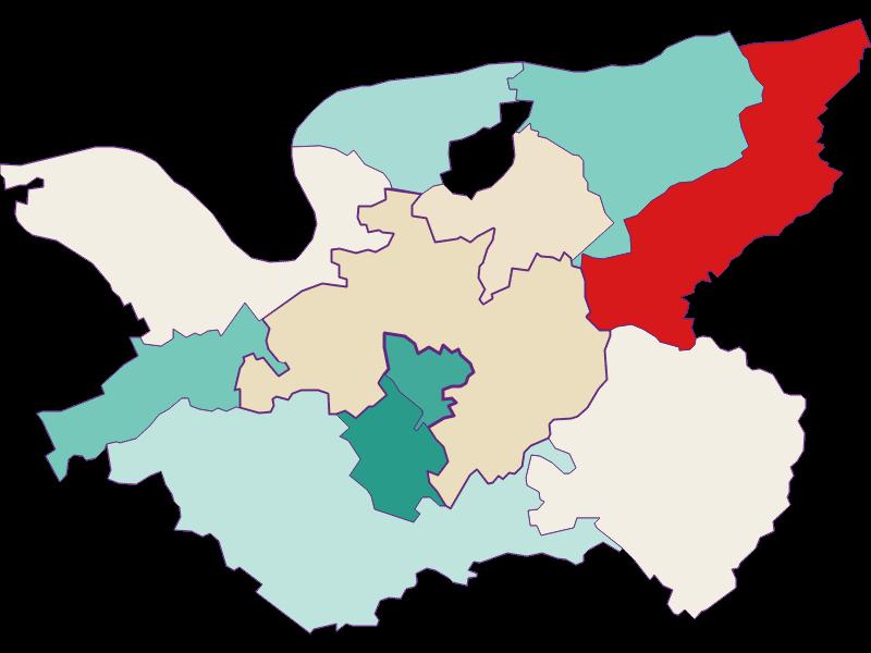 Демография с 1869 года в Bergland