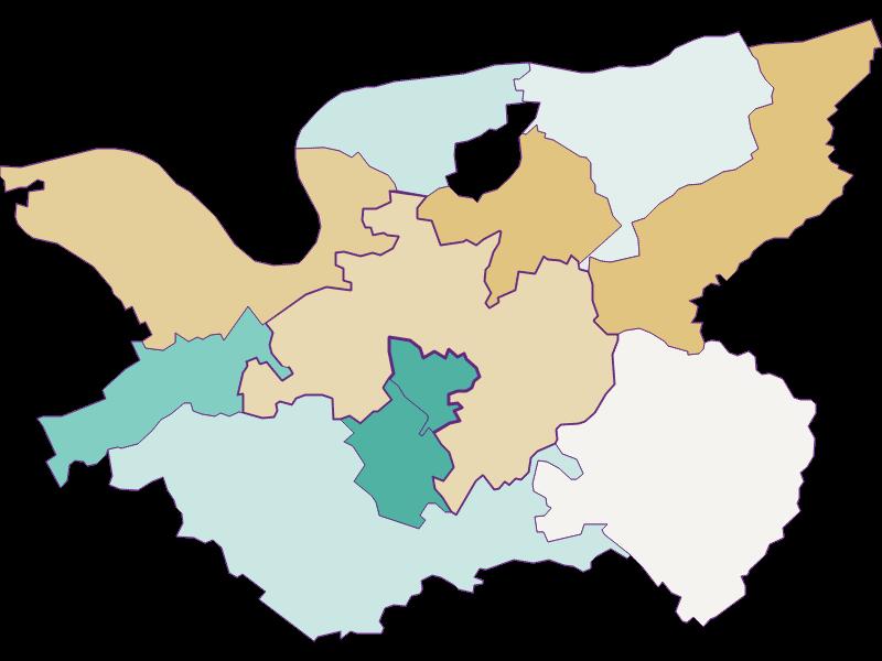 Демография с 1900 года в Bergland