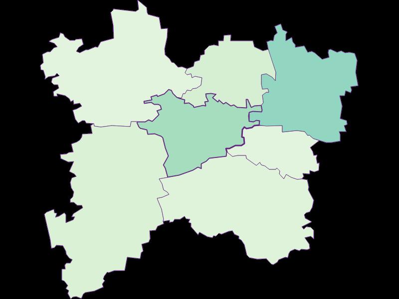 Share of foreigners in Bischofstetten