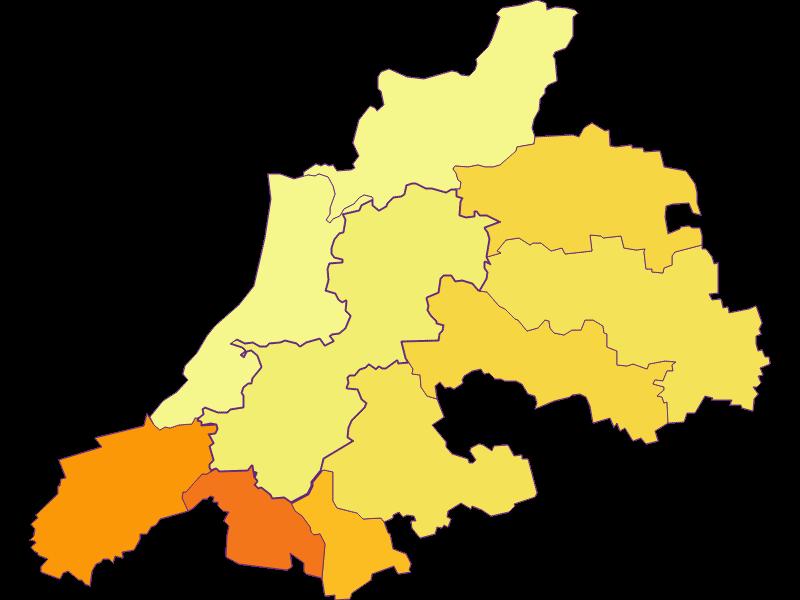 Плотность населения в Dunkelsteinerwald