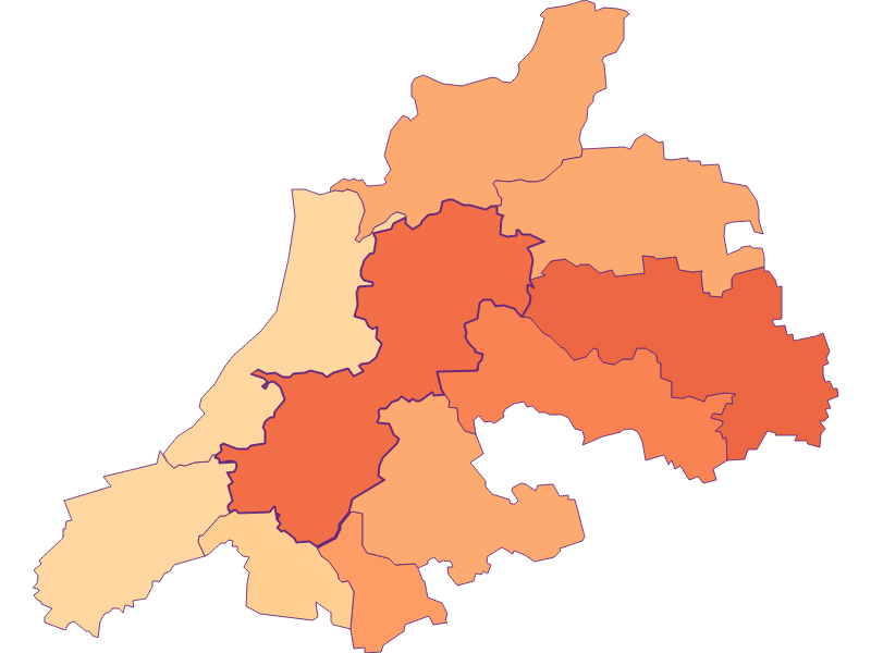 Размер домохозяйства в Dunkelsteinerwald