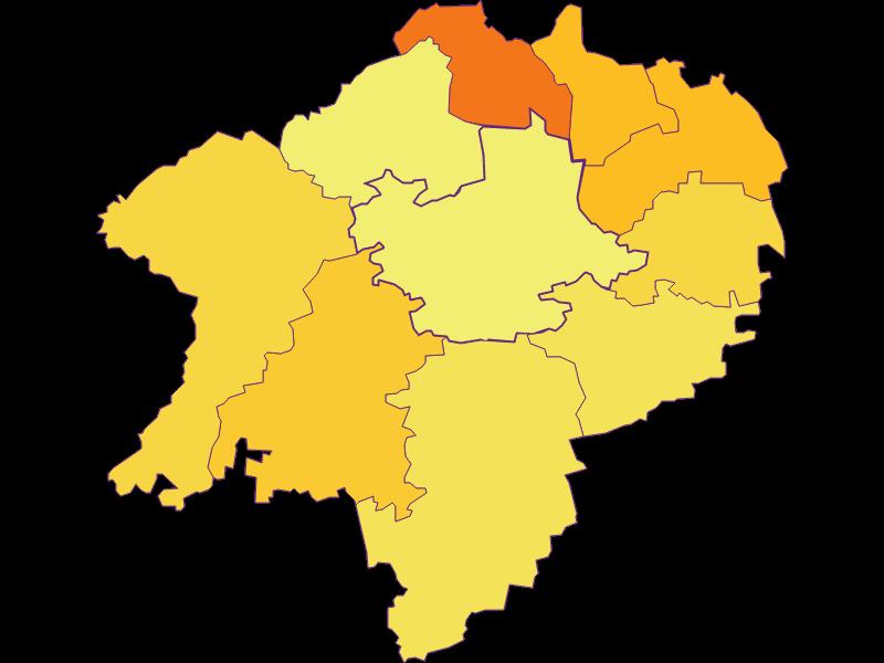 Bevölkerungsdichte in Hürm