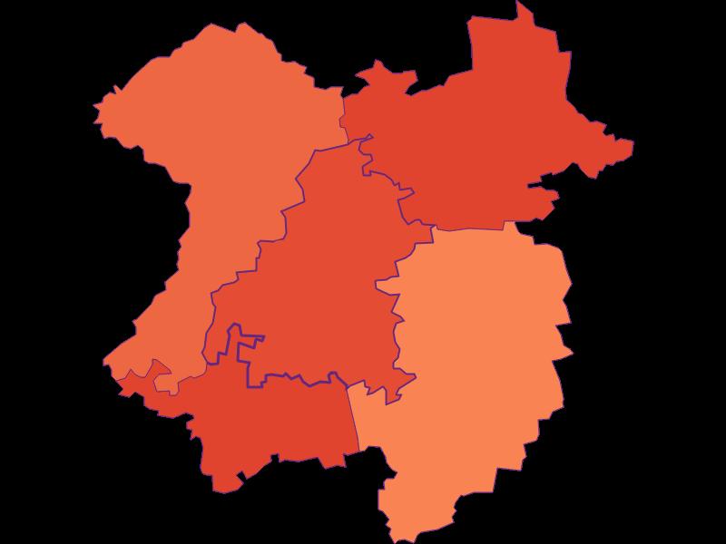 Размер домохозяйства в Mank
