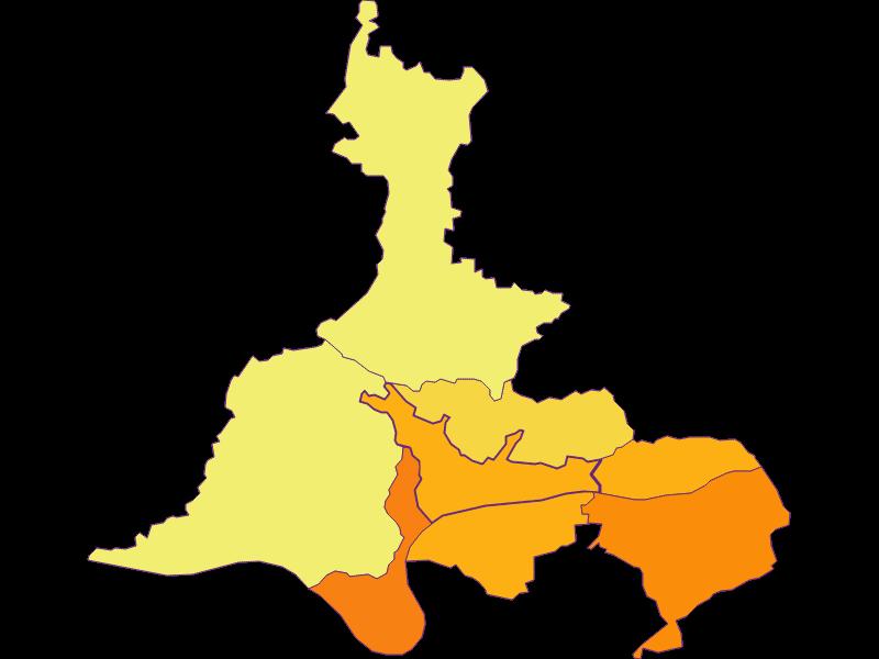 Плотность населения в Marbach an der Donau