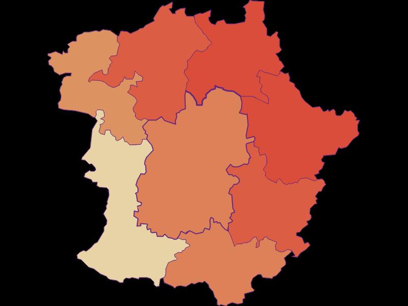 Population development since 1869 in Pöggstall