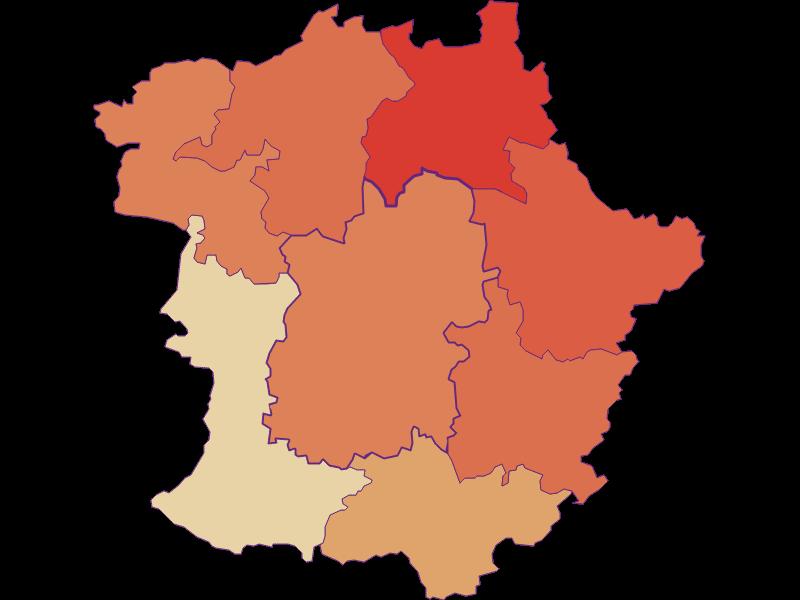 Population development since 1900 in Pöggstall