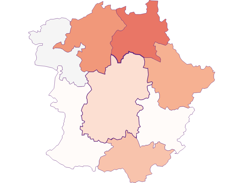 Farmers (comparison to federal state) in Pöggstall
