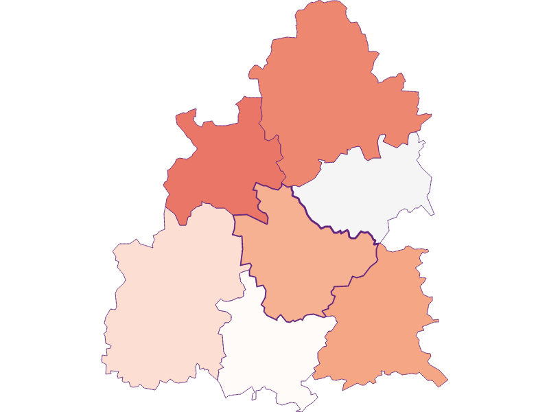 Farmers (comparison to federal state) in Raxendorf