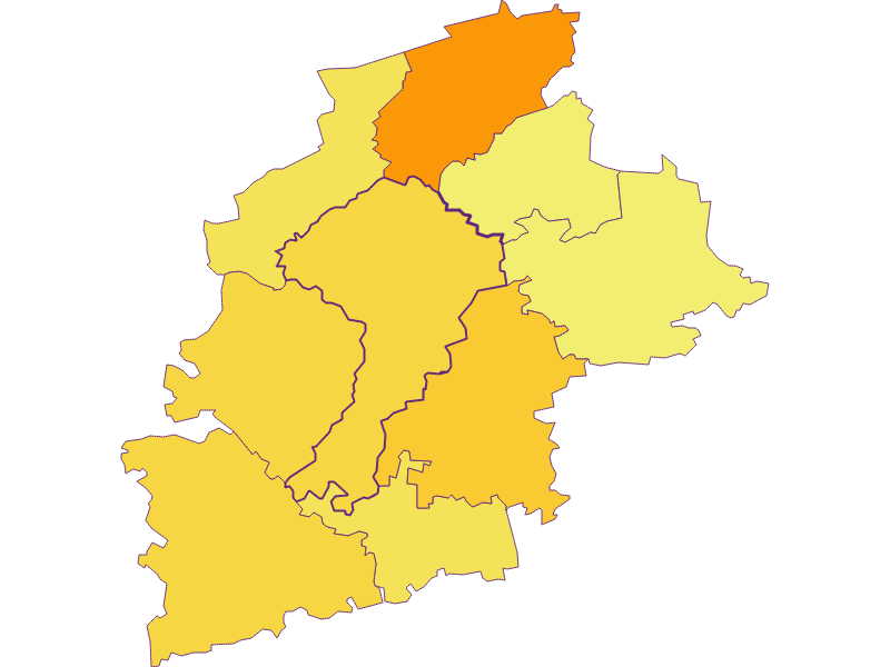 Плотность населения в St. Leonhard am Forst