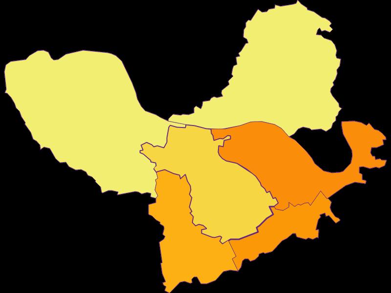 Плотность населения в St. Martin-Karlsbach