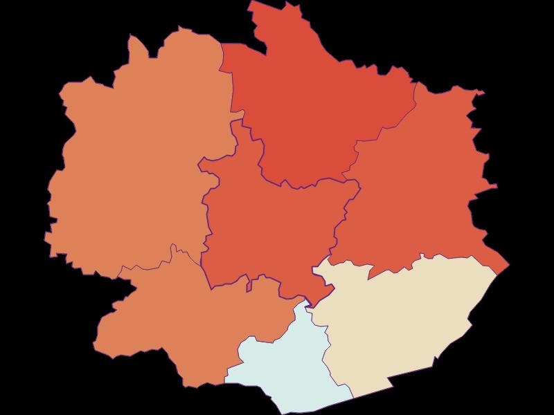 Демография с 1869 года в Weiten
