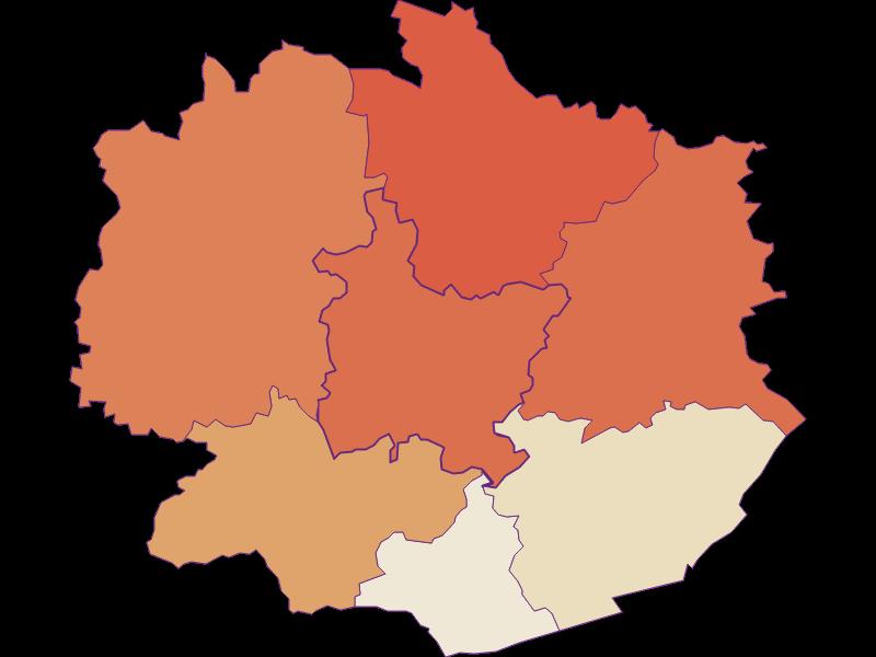Демография с 1900 года в Weiten