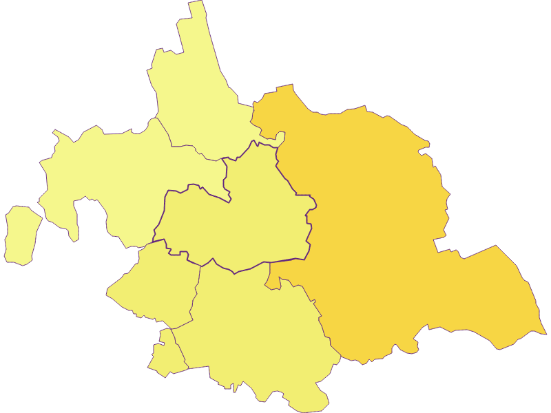 Population density in Asparn an der Zaya