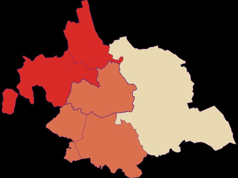 Population development since 1900 in Asparn an der Zaya