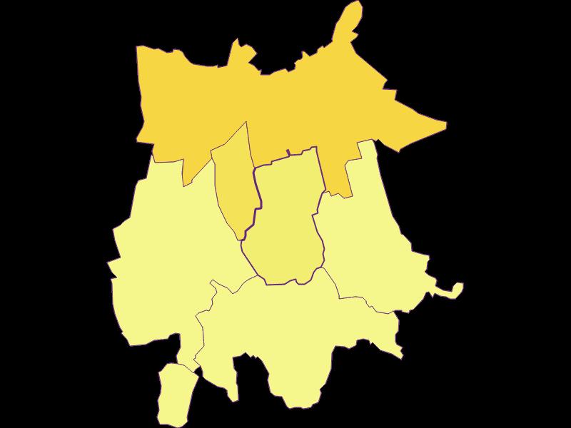 Population density in Gaubitsch