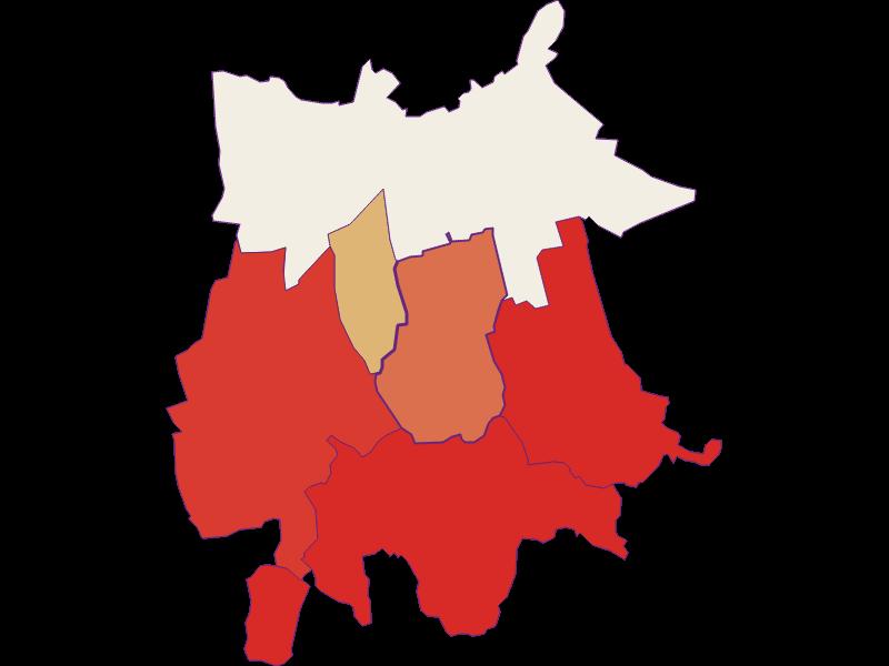 Population development since 1869 in Gaubitsch