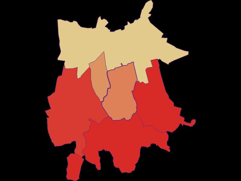 Population development since 1900 in Gaubitsch