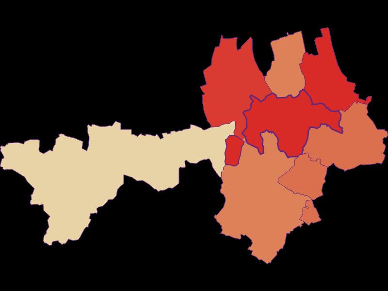 Population development since 1900 in Gnadendorf