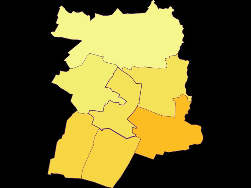 Population density in Hausbrunn