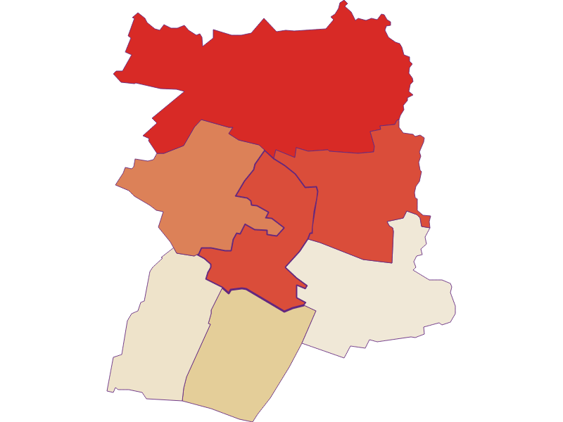 Population development since 1869 in Hausbrunn