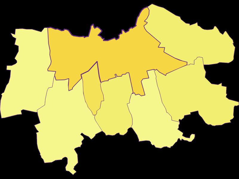 Плотность населения в Laa an der Thaya