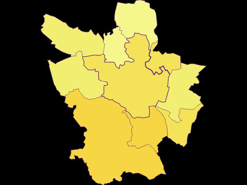Population density in Poysdorf