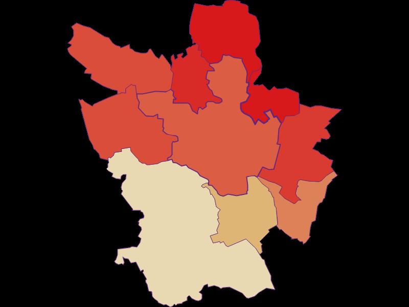 Population development since 1900 in Poysdorf